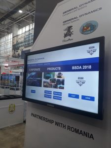 "Touchscreen 40"" - BSDA 2018, Bucuresti"