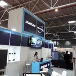 LED display - DOOSAN ROMEGA TRADE booth - TIB 2018