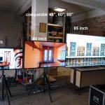 Comparatie ecrane 40 inch, 60 inch, 85'inch