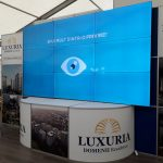 Videowall Luxuria booth